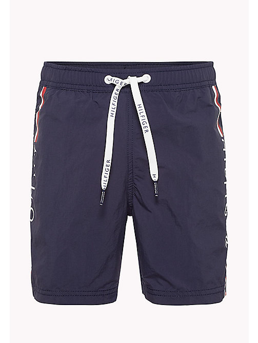 TOMMY HILFIGER Drawstring Swim Shorts - NAVY BLAZER - TOMMY HILFIGER Boys - main image