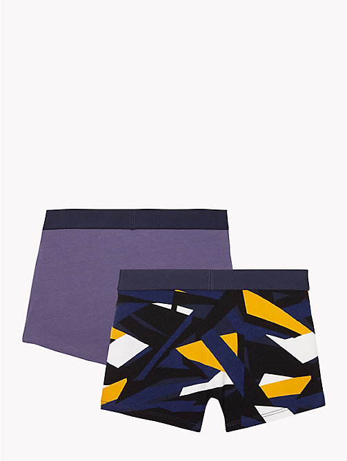 TOMMY HILFIGER 2-Pack Arty Trunks - WHITE/NIGHTSHADOW BLUE - TOMMY HILFIGER Underwear & Socks - detail image 1
