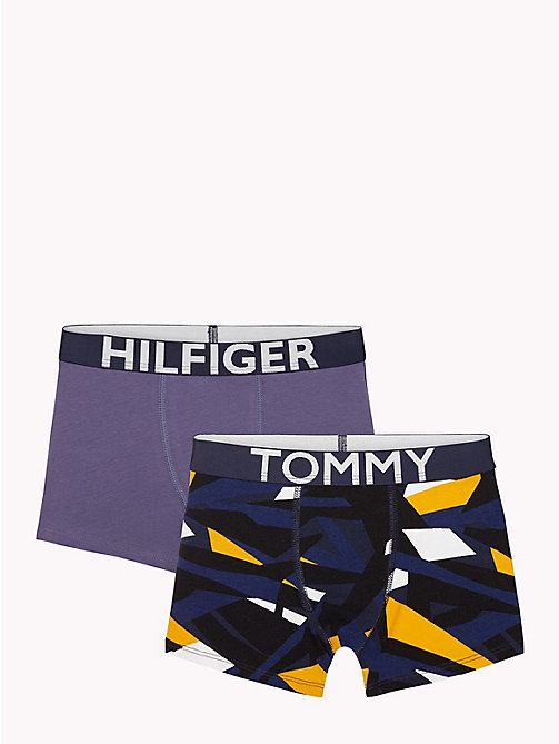 TOMMY HILFIGER 2-Pack Arty Trunks - WHITE/NIGHTSHADOW BLUE - TOMMY HILFIGER Underwear & Socks - main image
