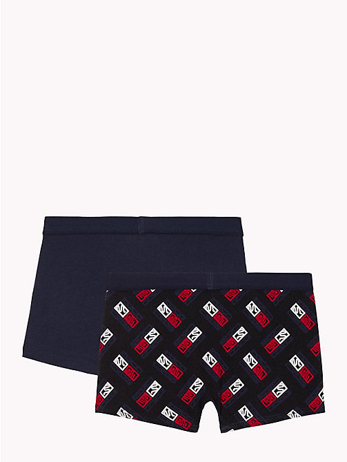 TOMMY HILFIGER 2-Pack Sketch Trunks - BLACK/NAVY BLAZER - TOMMY HILFIGER Underwear - detail image 1