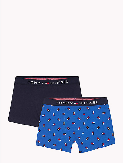 TOMMY HILFIGER 2-Pack Flag Print Trunks - CLASSIC BLUE/NAVY BLAZER - TOMMY HILFIGER Underwear & Socks - main image