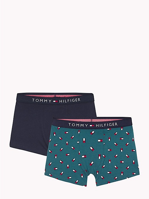 TOMMY HILFIGER 2-Pack Flag Print Trunks - ATLANTIC DEEP/NAVY BLAZER - TOMMY HILFIGER Underwear & Socks - main image