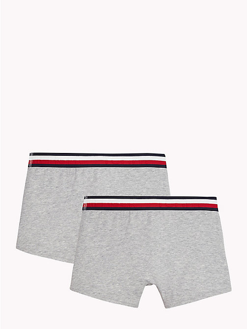 TOMMY HILFIGER 2-Pack Signature Waistband Trunks - GREY HEATHER? GREY HEATHER - TOMMY HILFIGER Underwear - detail image 1