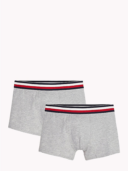 TOMMY HILFIGER Set van 2 boxershorts met signature-tailleband - GREY HEATHER? GREY HEATHER - TOMMY HILFIGER Jongens - main image
