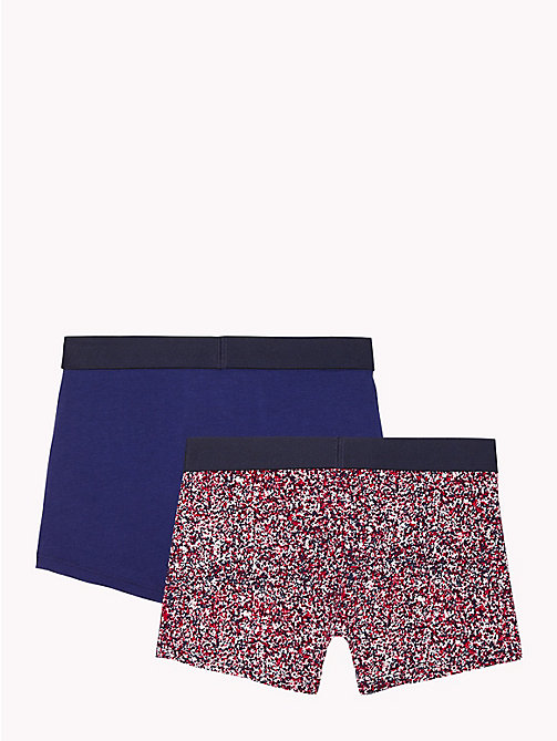 TOMMY HILFIGER 2-Pack Paint Splatter Trunks - WHITE / BLUE PRINT - TOMMY HILFIGER Underwear - detail image 1