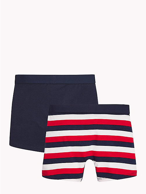 TOMMY HILFIGER 2-Pack Stripe Boxer Briefs - WHITE/NAVY BLAZER - TOMMY HILFIGER Underwear & Socks - detail image 1