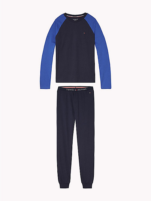 TOMMY HILFIGER Colour-Blocked Pyjamas - NAVY BLAZER/NAVY BLAZER - TOMMY HILFIGER Underwear - main image