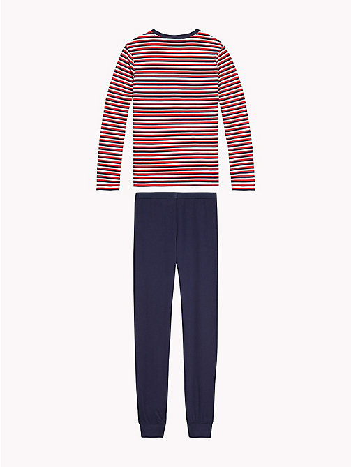 TOMMY HILFIGER Stripe Lounge Set - WHITE/NAVY BLAZER - TOMMY HILFIGER Boys - detail image 1