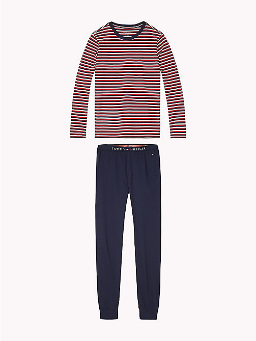 TOMMY HILFIGER Stripe Lounge Set - WHITE/NAVY BLAZER - TOMMY HILFIGER Underwear & Socks - main image