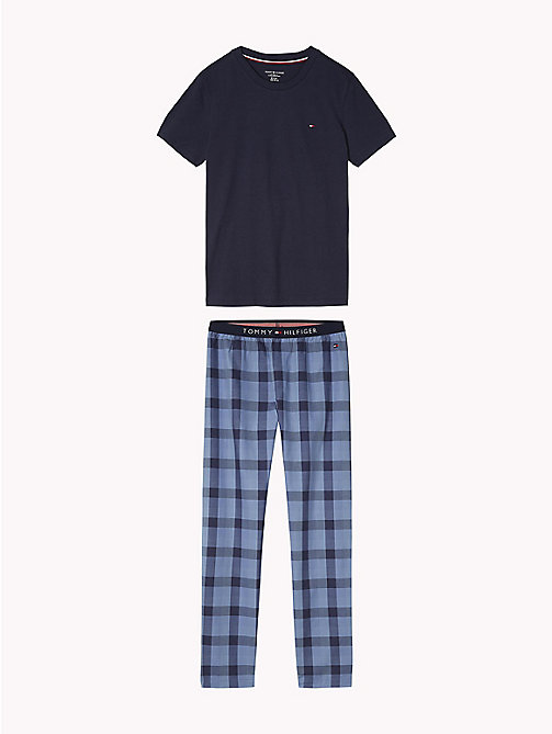 TOMMY HILFIGER Gingham Twill Pyjamas - NAVY BLAZER/NAVY BLAZER - TOMMY HILFIGER Underwear & Socks - main image