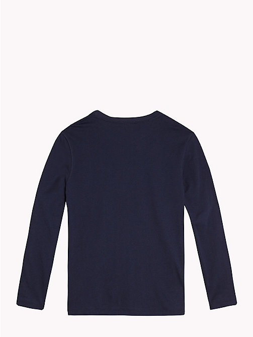 TOMMY HILFIGER Long Sleeve Lounge T-Shirt - NAVY BLAZER - TOMMY HILFIGER Boys - detail image 1