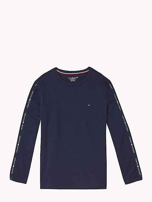 TOMMY HILFIGER Long Sleeve Lounge T-Shirt - NAVY BLAZER - TOMMY HILFIGER Boys - main image