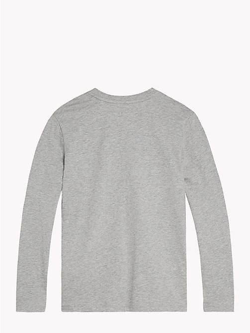 TOMMY HILFIGER Collegiate Logo Lounge Top - GREY HEATHER - TOMMY HILFIGER Boys - detail image 1