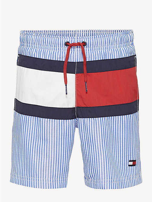 940afe19a0d4c7 blue flag motif swim shorts for boys tommy hilfiger