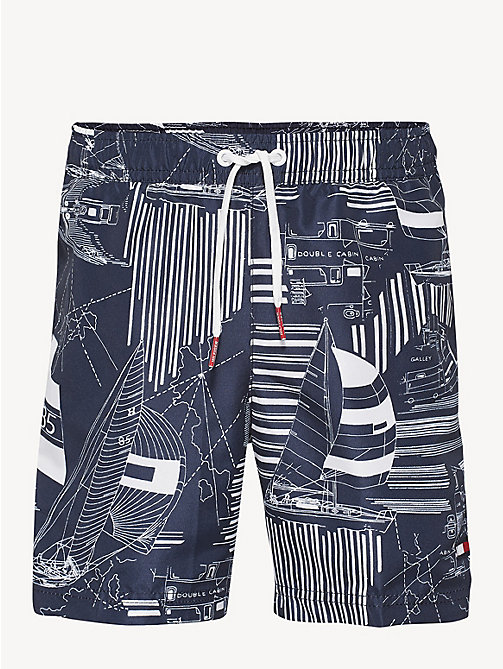45ea2957a1 white drawstring abstract print swim shorts for boys tommy hilfiger