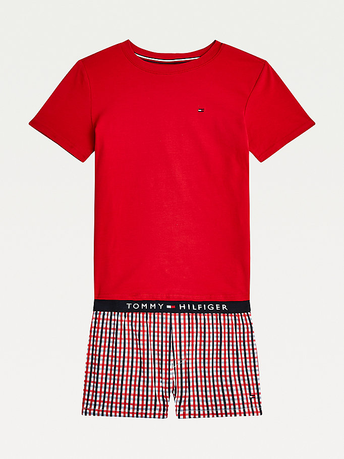 red striped pyjamas for boys tommy hilfiger