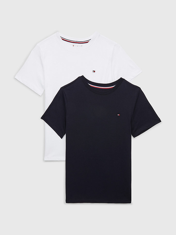 blue 2-pack short sleeve t-shirts for boys tommy hilfiger