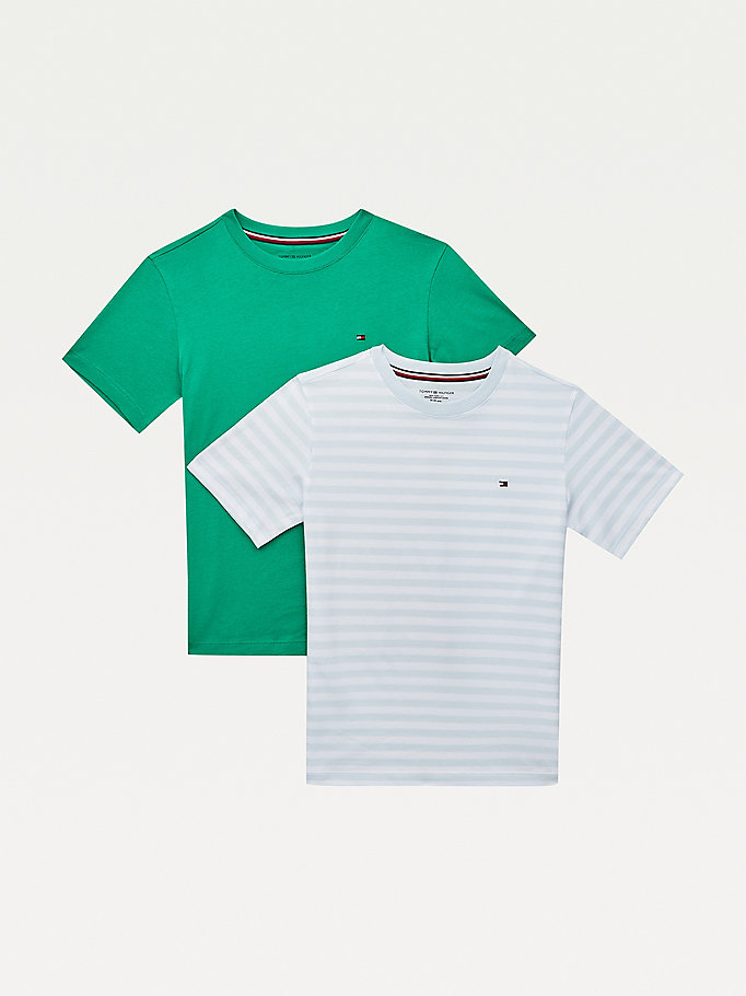 gold 2-pack cotton crew neck t-shirt for boys tommy hilfiger