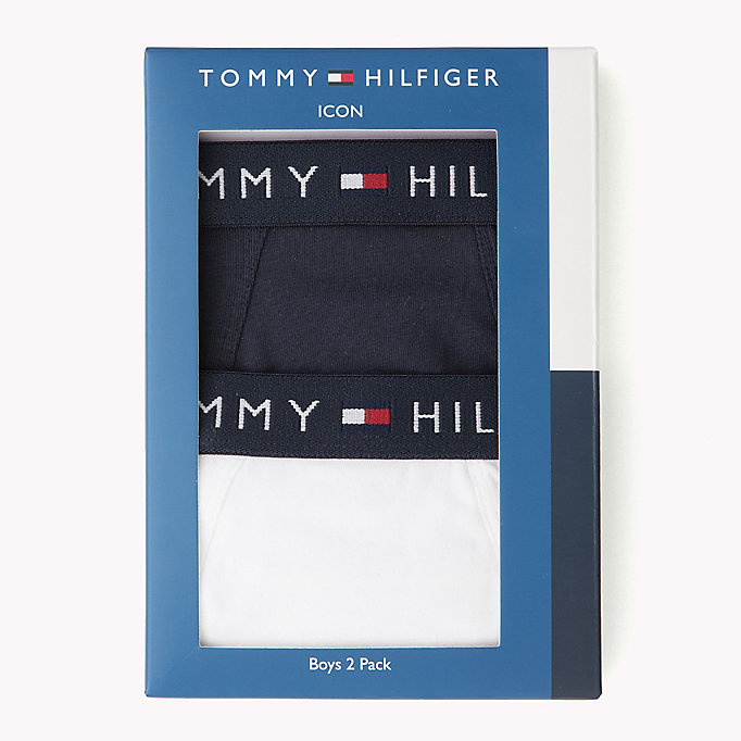 TOMMY HILFIGER 2-Pack Cotton Briefs - NAVY BLAZER/NAVY BLAZER - TOMMY HILFIGER Kids - detail image 2