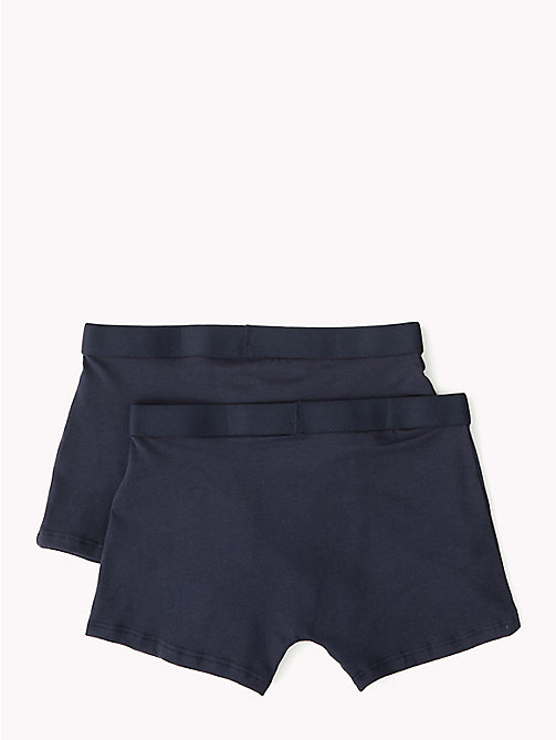 TOMMY HILFIGER Cotton Icon 2 Pack Trunks - NAVY BLAZER/NAVY BLAZER - TOMMY HILFIGER Underwear & Sleepwear - detail image 1