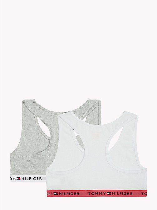 TOMMY HILFIGER Racer-Bralettes im Doppelpack - WHITE/ GREY HEATHER - TOMMY HILFIGER Girls - main image 1