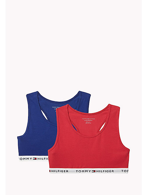 TOMMY HILFIGER 2 Pack Cotton Racer Bralette - CRIMSON/BLUE DEPTHS - TOMMY HILFIGER Girls - main image
