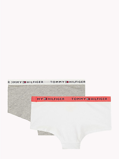 TOMMY HILFIGER Pack de 2 culottes en coton - WHITE/GREY HEATHER - TOMMY HILFIGER Sous-Vêtements & Pyjamas - image détaillée 1