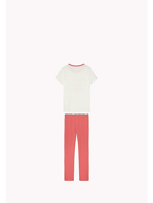 TOMMY HILFIGER Cotton Pyjama Set - RAPTURE ROSE/WHITE - TOMMY HILFIGER Girls - detail image 1