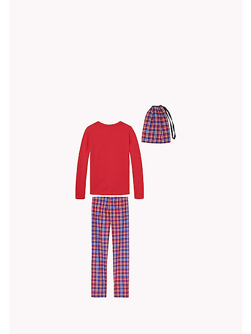 TOMMY HILFIGER FLANNEL SET LS - CRIMSON - TOMMY HILFIGER Girls - detail image 1
