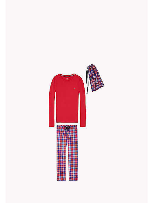 TOMMY HILFIGER FLANNEL SET LS - CRIMSON - TOMMY HILFIGER Girls - main image