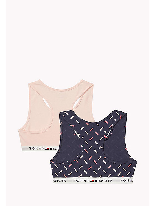 TOMMY HILFIGER Cotton Bralette 2 Pack - NAVY BLAZER/SEASHELL PINK - TOMMY HILFIGER Girls - detail image 1
