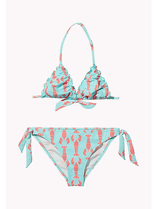 TOMMY HILFIGER Lobster Print Bikini Set - LOBSTER PRINT ARUBA BLUE - TOMMY HILFIGER Swim styles - main image
