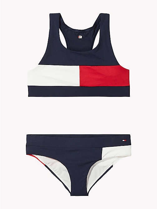TOMMY HILFIGER Flag Bikini Set - NAVY BLAZER - TOMMY HILFIGER Girls - main image