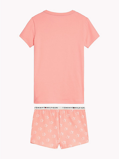 TOMMY HILFIGER Stretch Cotton Pyjama Set - FLAMINGO PINK/FLAMINGO PINK - TOMMY HILFIGER Ondergoed & Nachtkleding - detail image 1