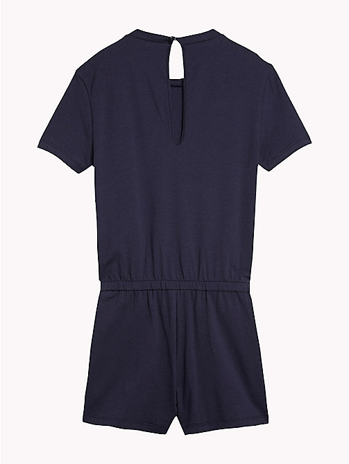 TOMMY HILFIGER Cotton Logo Lounge Playsuit - NAVY BLAZER -  Swimwear - detail image 1