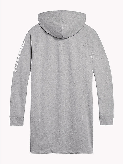 TOMMY HILFIGER Hooded Logo Jumper Dress - GREY HEATHER -  Underwear & Sleepwear - detail image 1