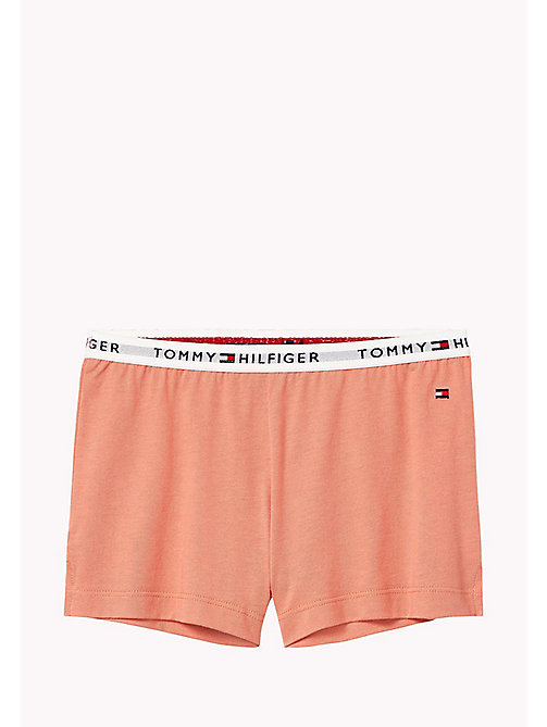 TOMMY HILFIGER Cotton Blend Lounge Shorts - BURNT CORAL -  Underwear & Sleepwear - main image