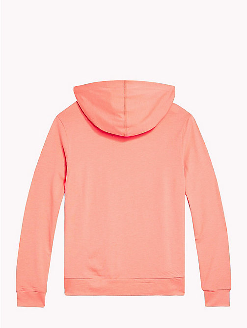TOMMY HILFIGER Cotton Modal Hoodie - BURNT CORAL - TOMMY HILFIGER Girls - detail image 1