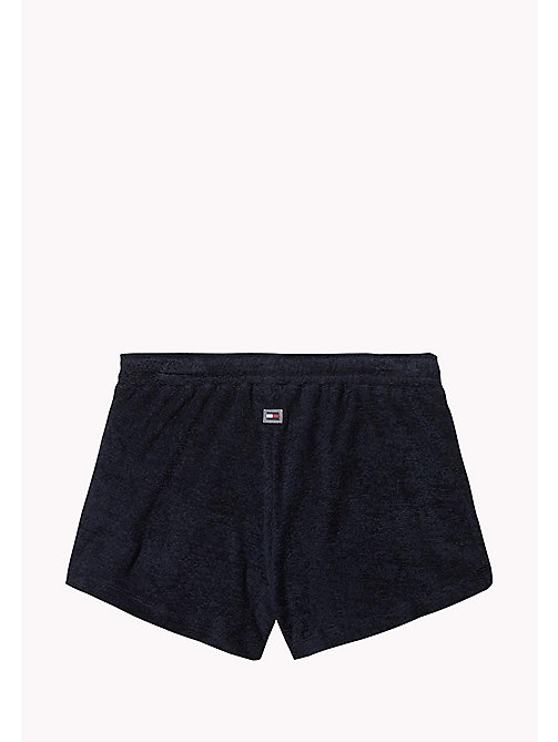 TOMMY HILFIGER Cotton Colour-Blocked Shorts - NAVY BLAZER - TOMMY HILFIGER Swim styles - detail image 1