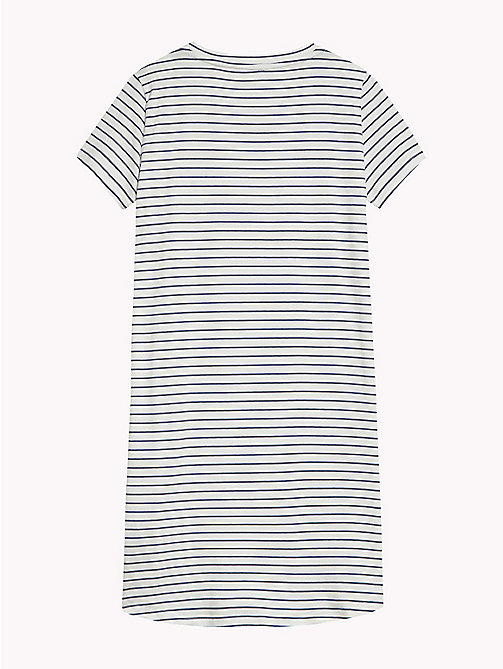 TOMMY HILFIGER Stripe Stretch Cotton Nightdress - WHITE -  Underwear & Sleepwear - detail image 1