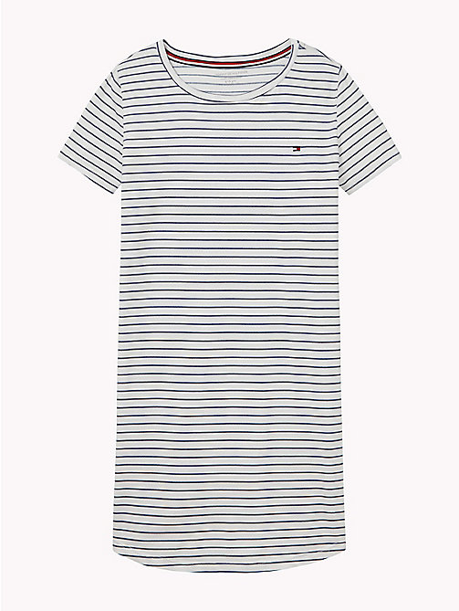TOMMY HILFIGER Stripe Stretch Cotton Nightdress - WHITE - TOMMY HILFIGER Underwear & Sleepwear - main image