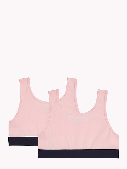 TOMMY HILFIGER 2-Pack Stretch Cotton Logo Bralette - SEASHELL PINK/SEASHELL PINK - TOMMY HILFIGER Girls - detail image 1
