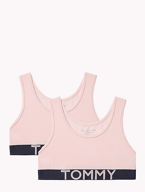 TOMMY HILFIGER 2-Pack Stretch Cotton Logo Bralette - SEASHELL PINK/SEASHELL PINK - TOMMY HILFIGER Girls - main image