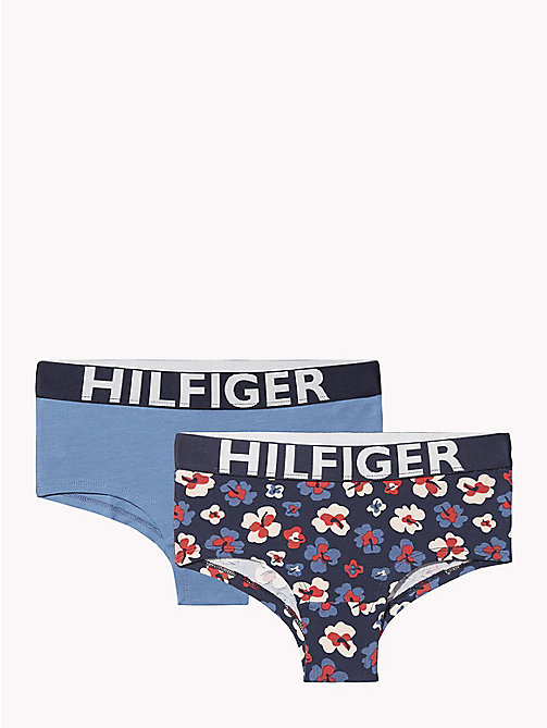 TOMMY HILFIGER 2-Pack Logo Waistband Briefs - BLUE HEAVEN/ NAVY BLAZER - TOMMY HILFIGER Underwear & Socks - main image