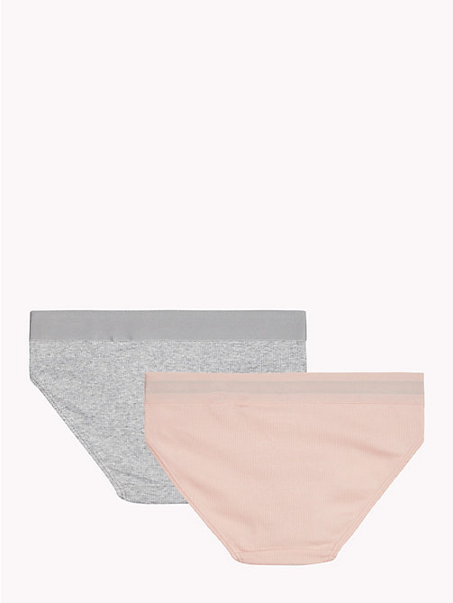 TOMMY HILFIGER 2-Pack Rib-Knit Briefs - PALE BLUSH/GREY HEATHER - TOMMY HILFIGER Underwear & Socks - detail image 1