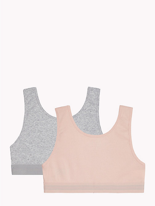 TOMMY HILFIGER 2-Pack Rib Knit Bralettes - PALE BLUSH/GREY HEATHER - TOMMY HILFIGER Underwear & Socks - detail image 1