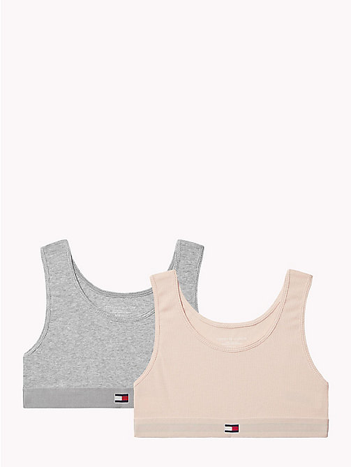 TOMMY HILFIGER 2-Pack Rib Knit Bralettes - PALE BLUSH/GREY HEATHER - TOMMY HILFIGER Underwear & Socks - main image