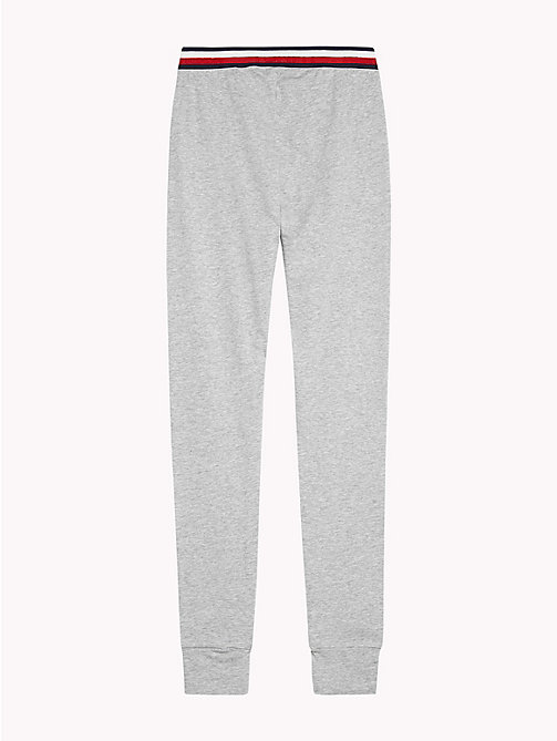 TOMMY HILFIGER Signature Tape Waistband Leggings - GREY HEATHER? GREY HEATHER - TOMMY HILFIGER Girls - detail image 1