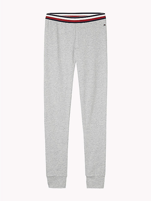 TOMMY HILFIGER Signature Tape Waistband Leggings - GREY HEATHER/GREY HEATHER - TOMMY HILFIGER Underwear & Socks - main image