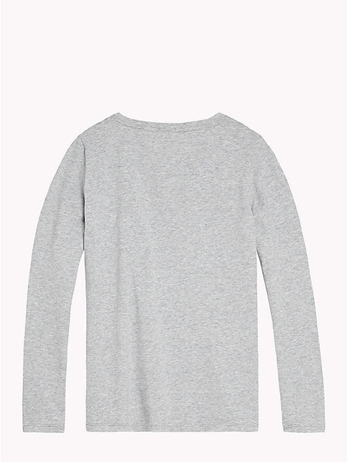 TOMMY HILFIGER Logo Lounge Top - GREY HEATHER? GREY HEATHER - TOMMY HILFIGER Girls - detail image 1